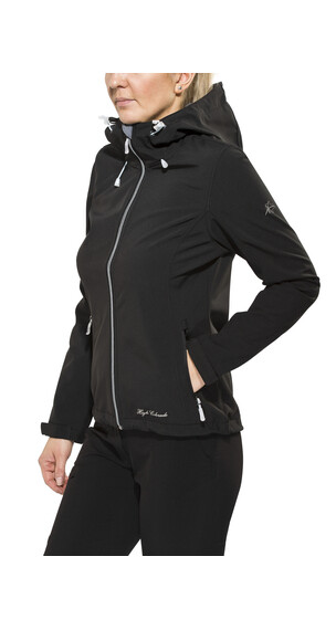 High Colorado Tamaro L Softshelljacke Damen schwarz-grau